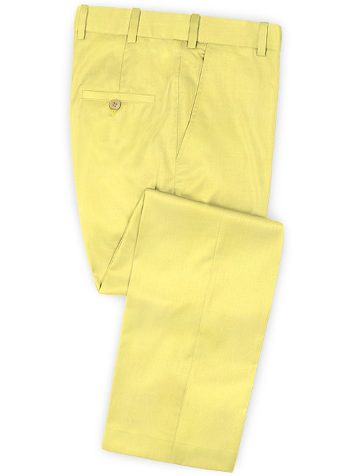 Napolean Yellow Wool Pants - Click Image to Close