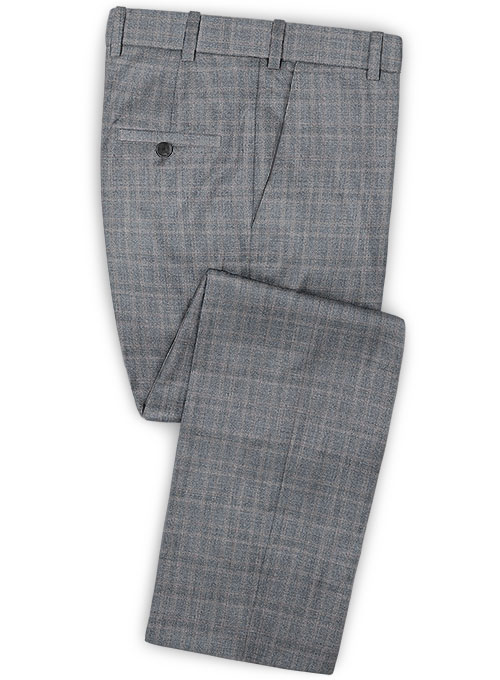 Reda Gorte Gray Wool Pants - Click Image to Close