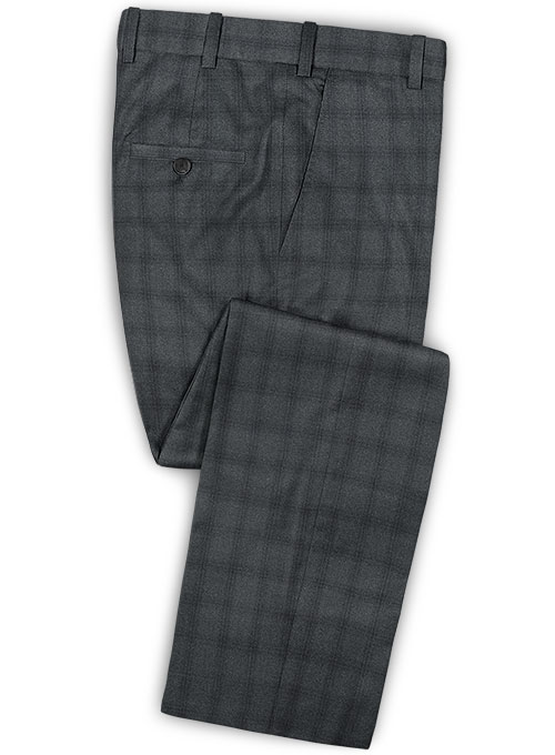 Reda Pied Gray Wool Pants - Click Image to Close