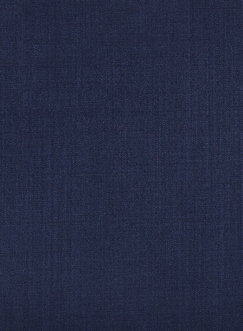 Regency Blue Double Gurkha Wool Trousers - Click Image to Close