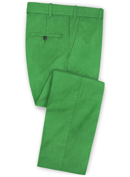 Scabal Bright Green Wool Pants - Click Image to Close