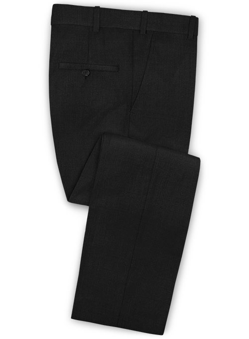 Stretch Black Wool Pants - Click Image to Close