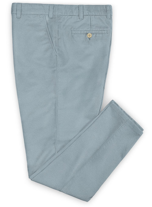 Washed Slate Blue Stretch Chino Pants - Click Image to Close