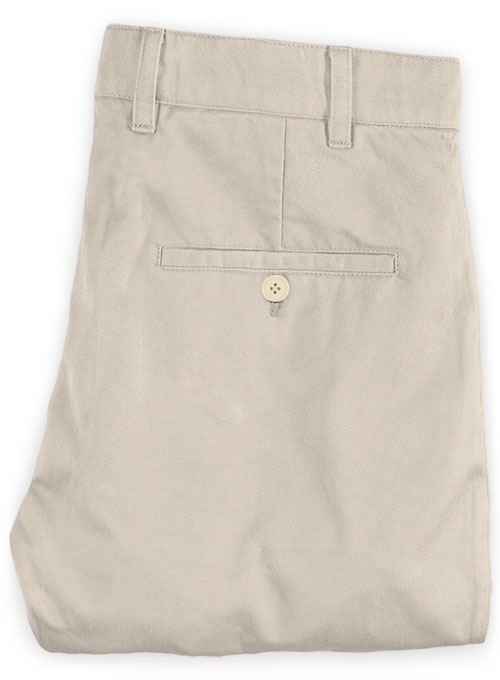 Washed Beige Stretch Chino Pants - Click Image to Close