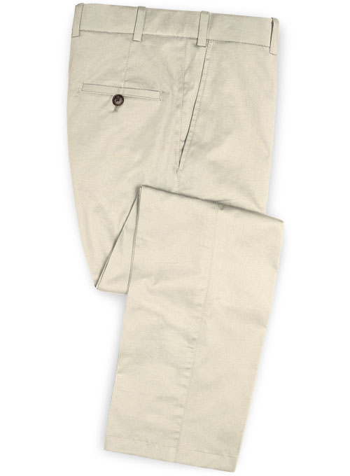 5b0f0695f522 Stretch Summer Weight Beige Chino Pants   StudioSuits  Made To Measure  Custom Suits