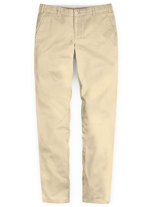 Washed Stretch Summer Weight Light Khaki Chino Pants - Click Image to Close