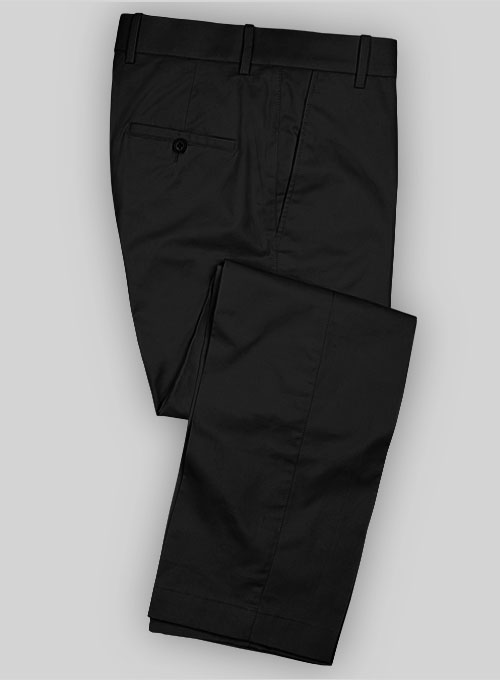 54c7fbfb13c5 Summer Weight Black Tailored Chinos   StudioSuits  Made To Measure Custom  Suits