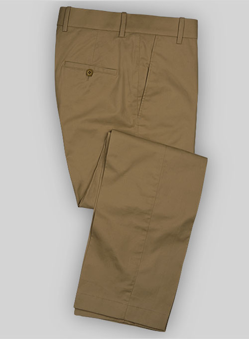 d94963a16581 Summer Weight Caramel Tailored Chinos   StudioSuits  Made To Measure Custom  Suits