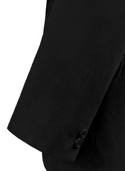 Black Suede Faux Leather Blazer - Click Image to Close