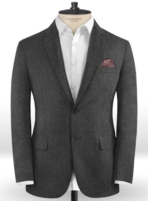 Caccioppoli Dapper Dandy Dino Gray Wool Jacket - Click Image to Close
