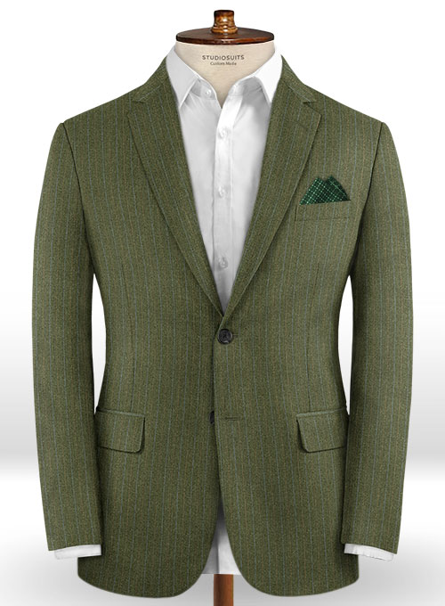 Caccioppoli Dapper Dandy Iniesa Seaweed Green Wool Jacket - Click Image to Close
