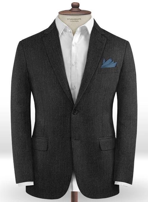 Caccioppoli Dapper Dandy Lead Gray Wool Jacket - Click Image to Close