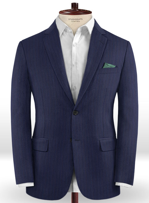 Caccioppoli Dapper Dandy Midico Royal Blue Wool Jacket - Click Image to Close