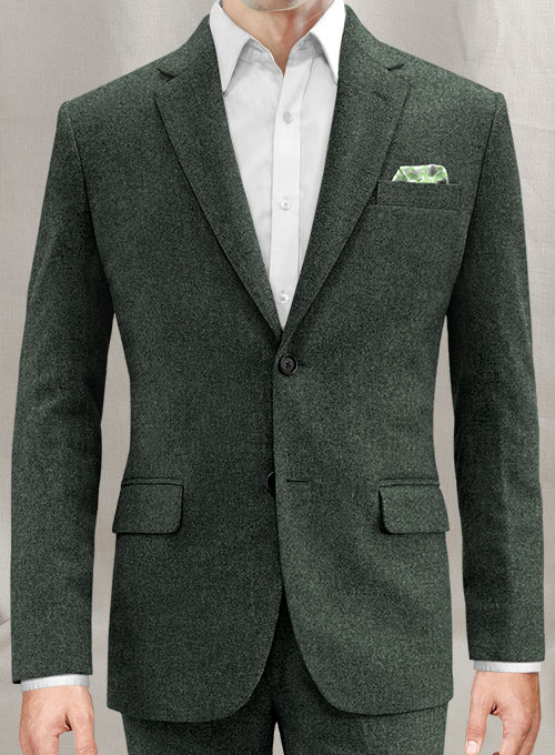 Green Heavy Tweed Jacket - Click Image to Close
