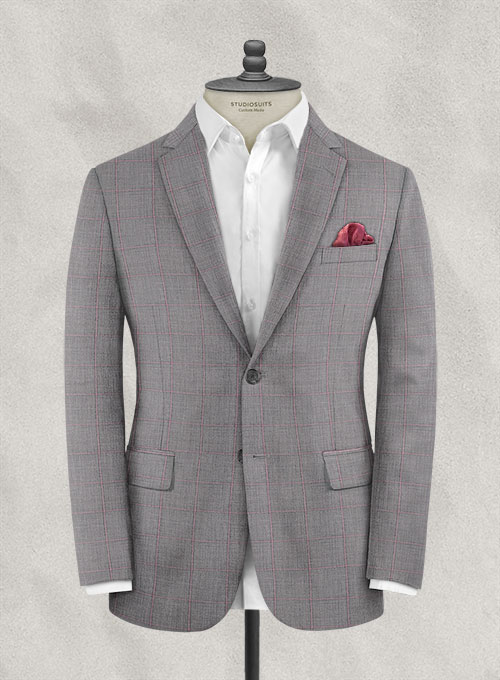 Italian Murano Teodo Gray Wool Jacket - Click Image to Close