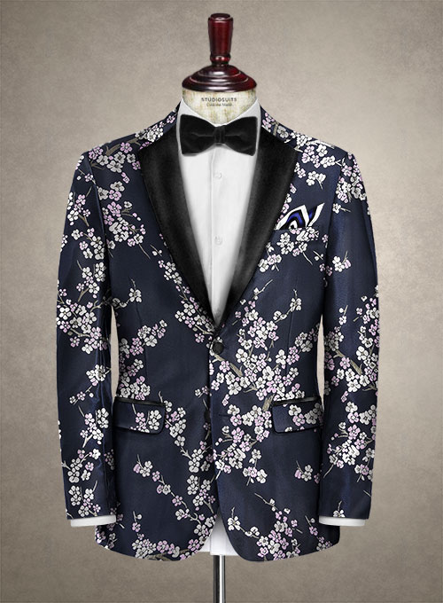 Italian Silk Brizia Tuxedo Jacket - Click Image to Close