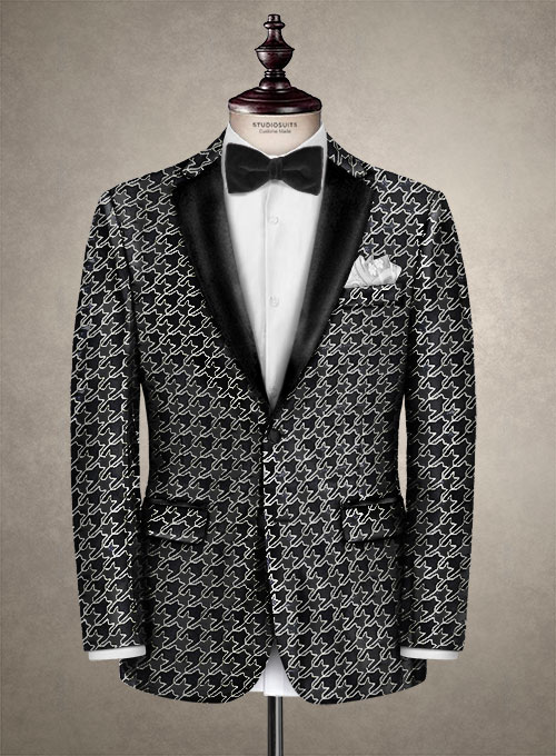 Italian Silk Fera Tuxedo Jacket - Click Image to Close