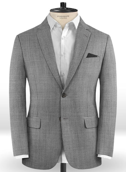 b82d5e902ca4 Light Gray Pick & Pick Wool Jacket : StudioSuits: Made To Measure Custom  Suits, Customize Suits, Jackets and Trousers
