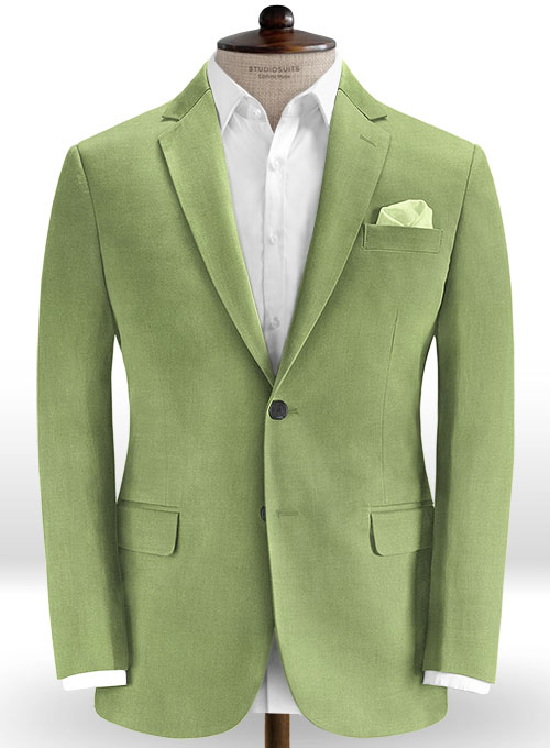 Sea Green Cotton Stretch Jacket - Click Image to Close