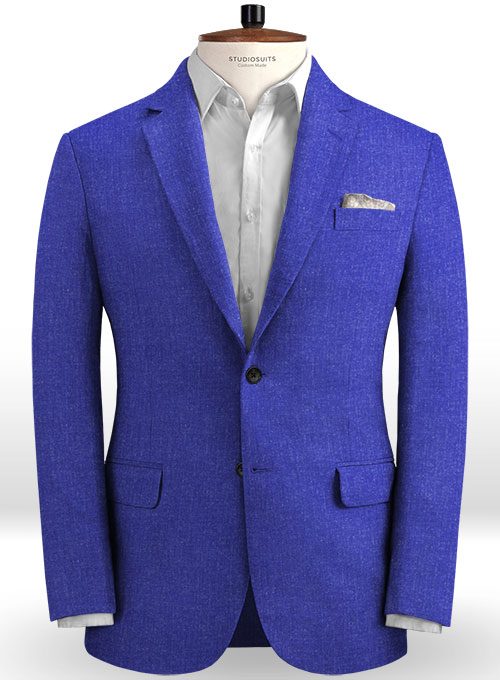 Solbiati Cobalt Blue Linen Jacket - Click Image to Close