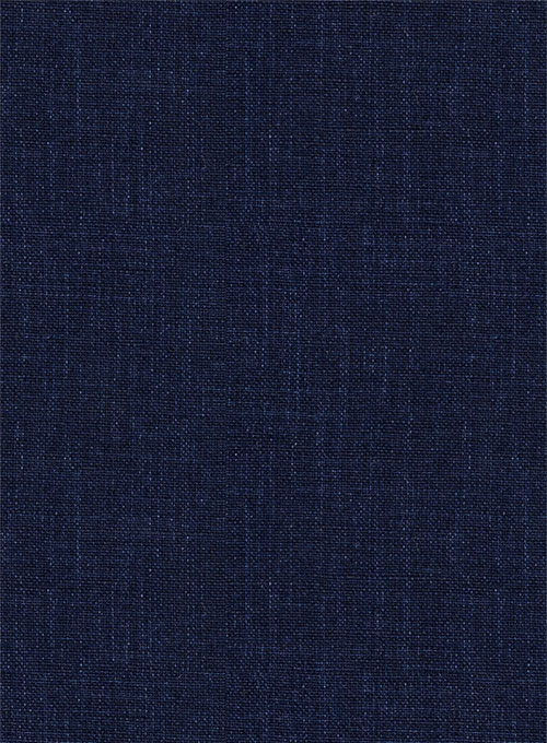 Solbiati Dark Blue Linen Jacket - Click Image to Close