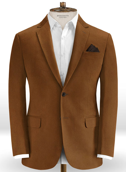 Spring Brown Cotton Stretch Jacket - Click Image to Close