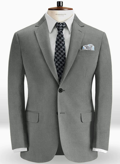 960faba4012a Stretch Summer Weight Gray Chino Jacket   StudioSuits  Made To Measure  Custom Suits