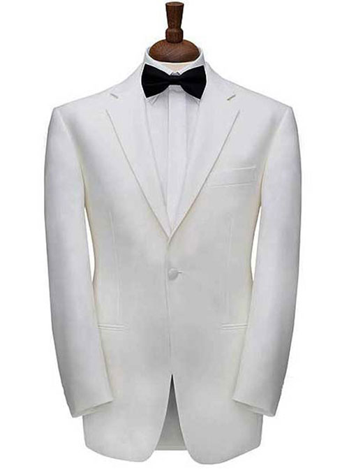 07e616180676 White Dinner Jacket   StudioSuits  Made To Measure Custom Suits ...