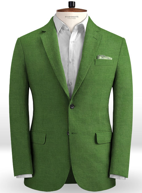 Zod Green Pure Linen Jacket