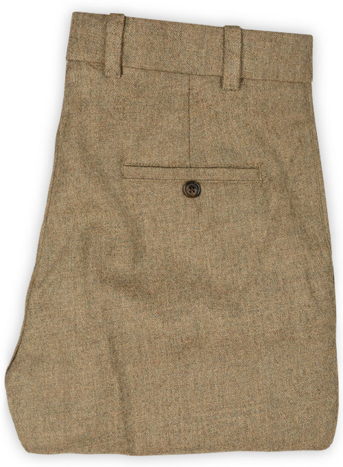 Light Weight Melange Brown Tweed Pants - Pre Set Sizes - Click Image to Close
