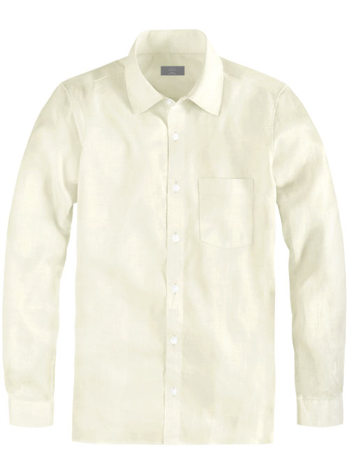 Cream Cotton Linen Shirt