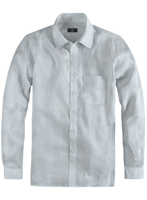 Cube Blue Cotton Shirt