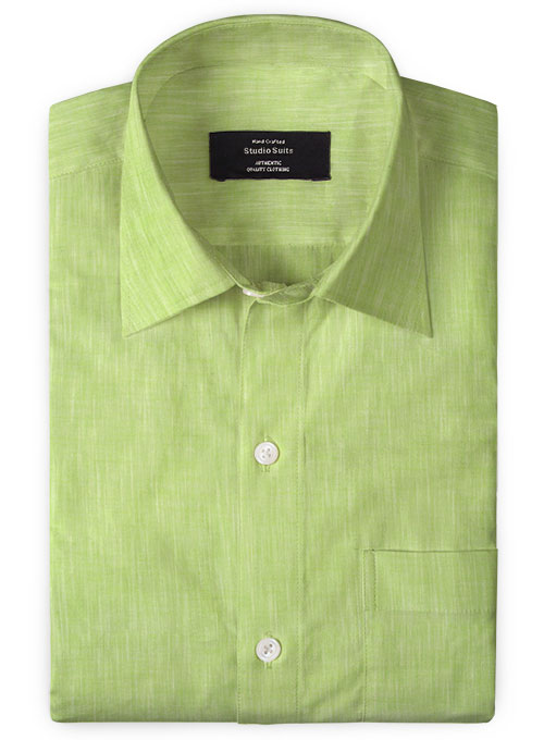 Egypt Green Cotton Shirt