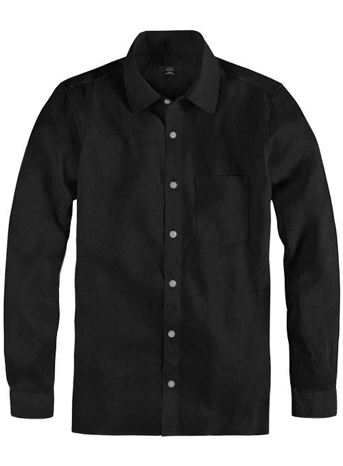 Giza Black Cotton Shirt