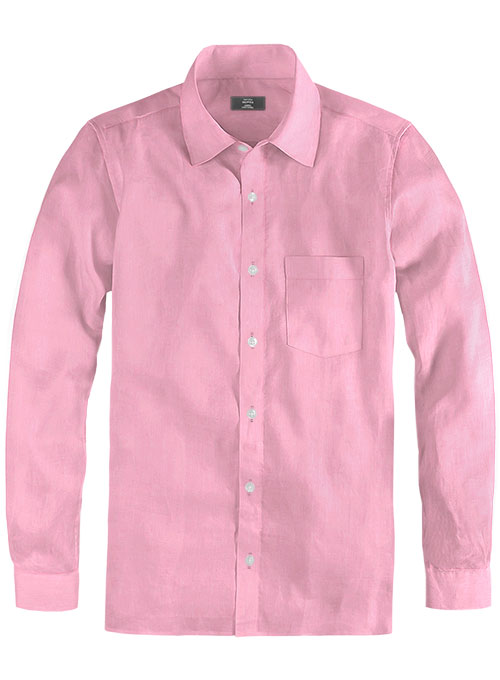 Giza Dark Pink Cotton Shirt