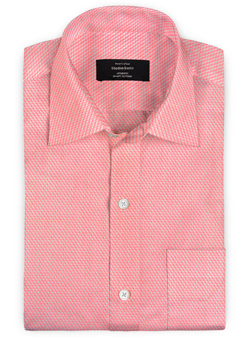 Giza Pink Dobby Cotton Shirt