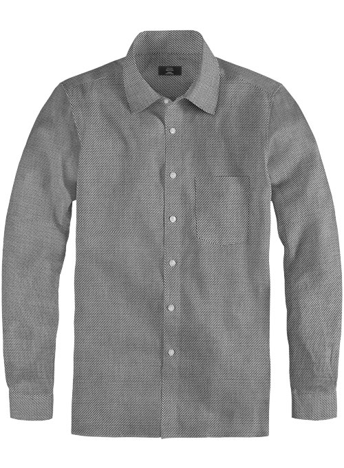 Giza Quartz Gray Cotton Shirt