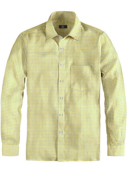 Giza Voila Checks Cotton Shirt