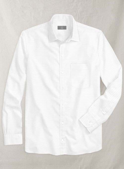 Italian Cotton White Enigi Shirt