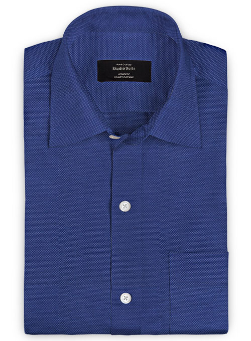 Italian Ink Blue Chambray Shirt