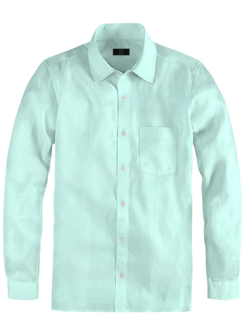 Light Blue Cotton Linen Shirt