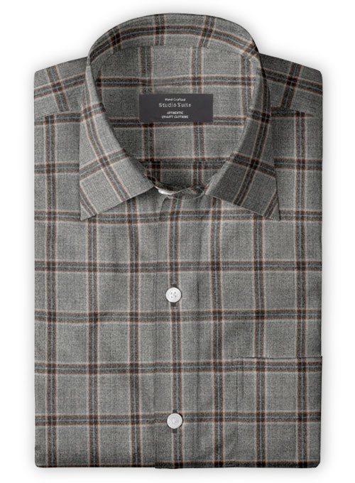 Lt Wt Southrail Gray Tweed Shirt - Full Sleeves