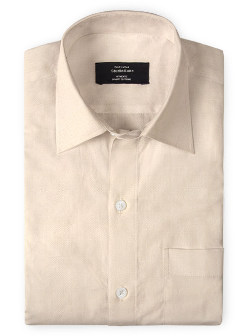 Pale Pink Cotton Linen Shirt - Click Image to Close
