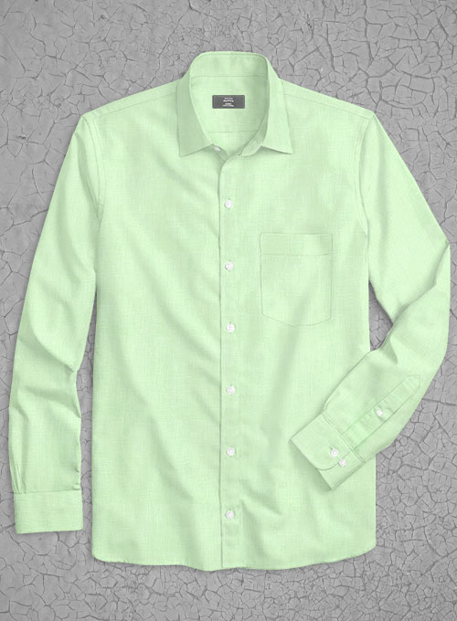 Pure Ocean Green Linen Shirt