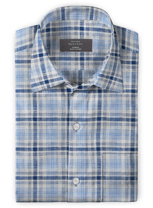 Roman Blue Power Linen Shirt
