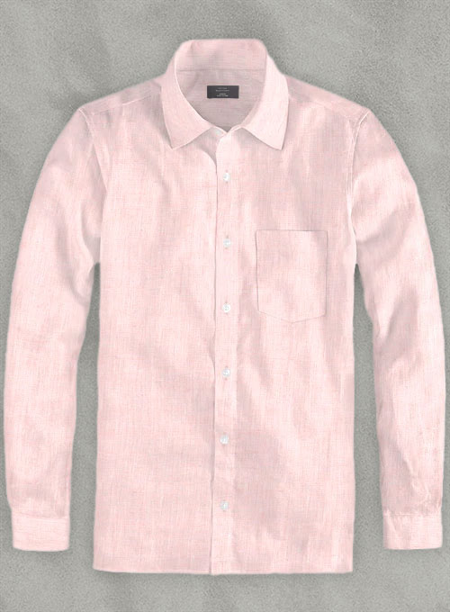 Roman Light Pink Linen Shirt