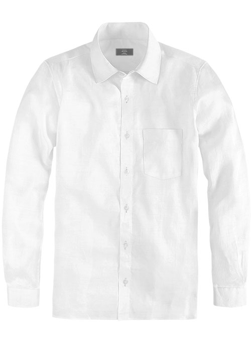 White Cotton Shirt - Full Sleeves