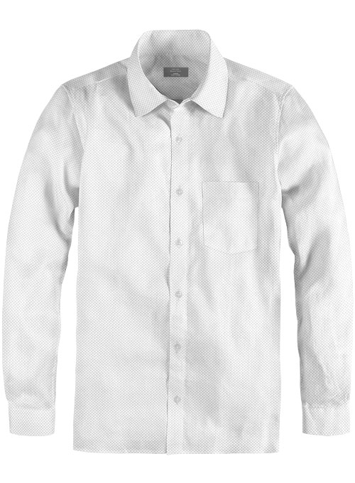 White Self Tile Shirt