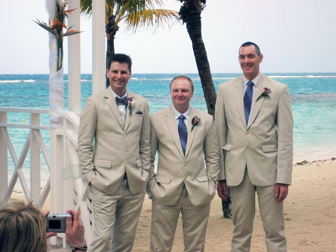 beach suits weddings