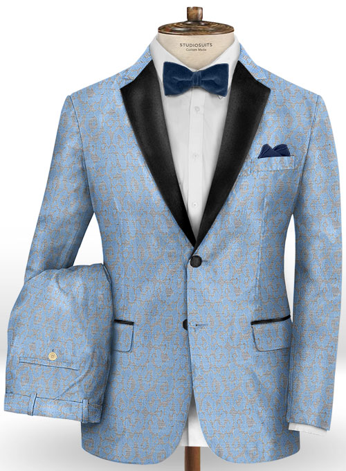 Adali Serenity Wool Tuxedo Suit - Click Image to Close